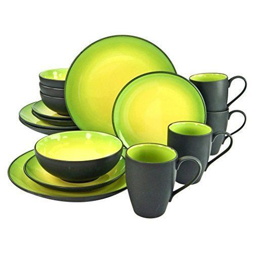 COLOURFUL DINNER Set Stoneware Dinnerware Dark Gray Yellow Green Plates Bowl Mug - £169.75. Product Information Colourful Dinner Set Stoneware Dinn\u2026  sc 1 st  Pinterest & COLOURFUL DINNER Set Stoneware Dinnerware Dark Gray Yellow Green ...