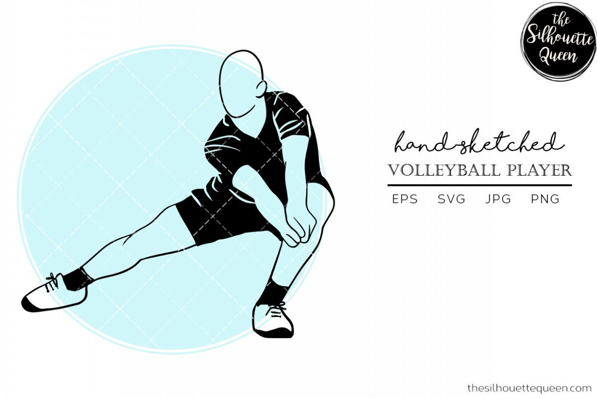 Hand Drawn Male Volleyball Player Vector Sketch 515000 Svgs Design Bundles In 2020 Vector Sketch How To Draw Hands Guy Drawing