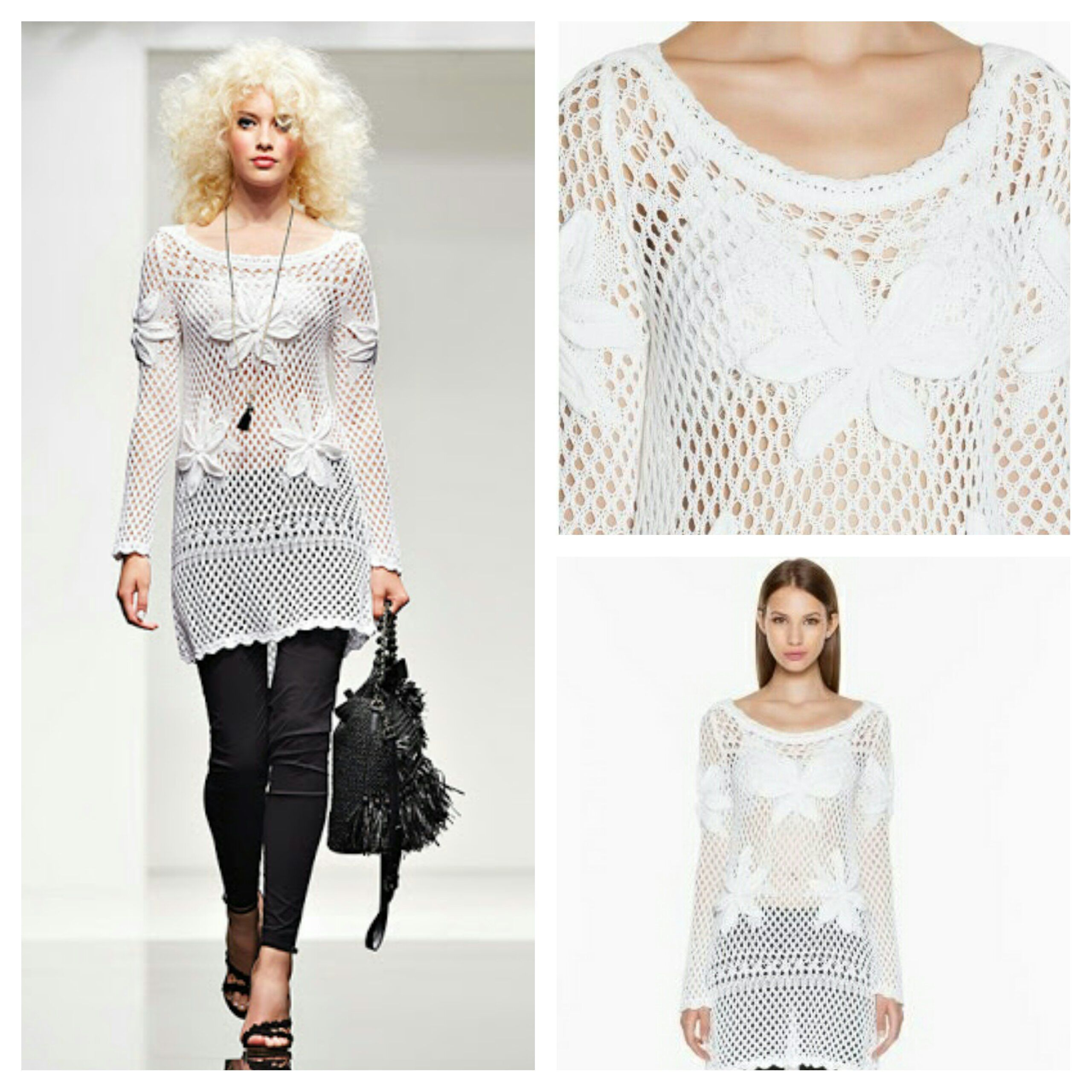 White Knit Top | Twin Set Simona Barbieri Collection. | TWIN-SET ...