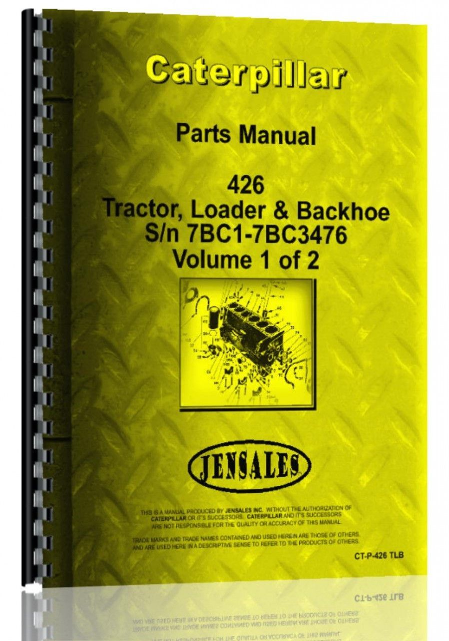 small resolution of caterpillar 426 tractor loader backhoe parts manual