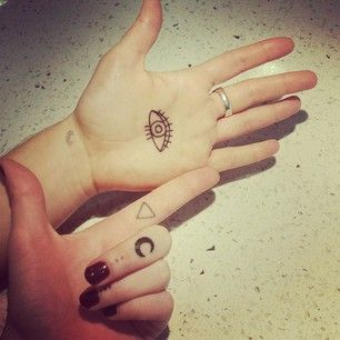 26 Simple And Striking Dotted Finger Tattoos Palm Tattoos Hand Palm Tattoos Finger Tattoos