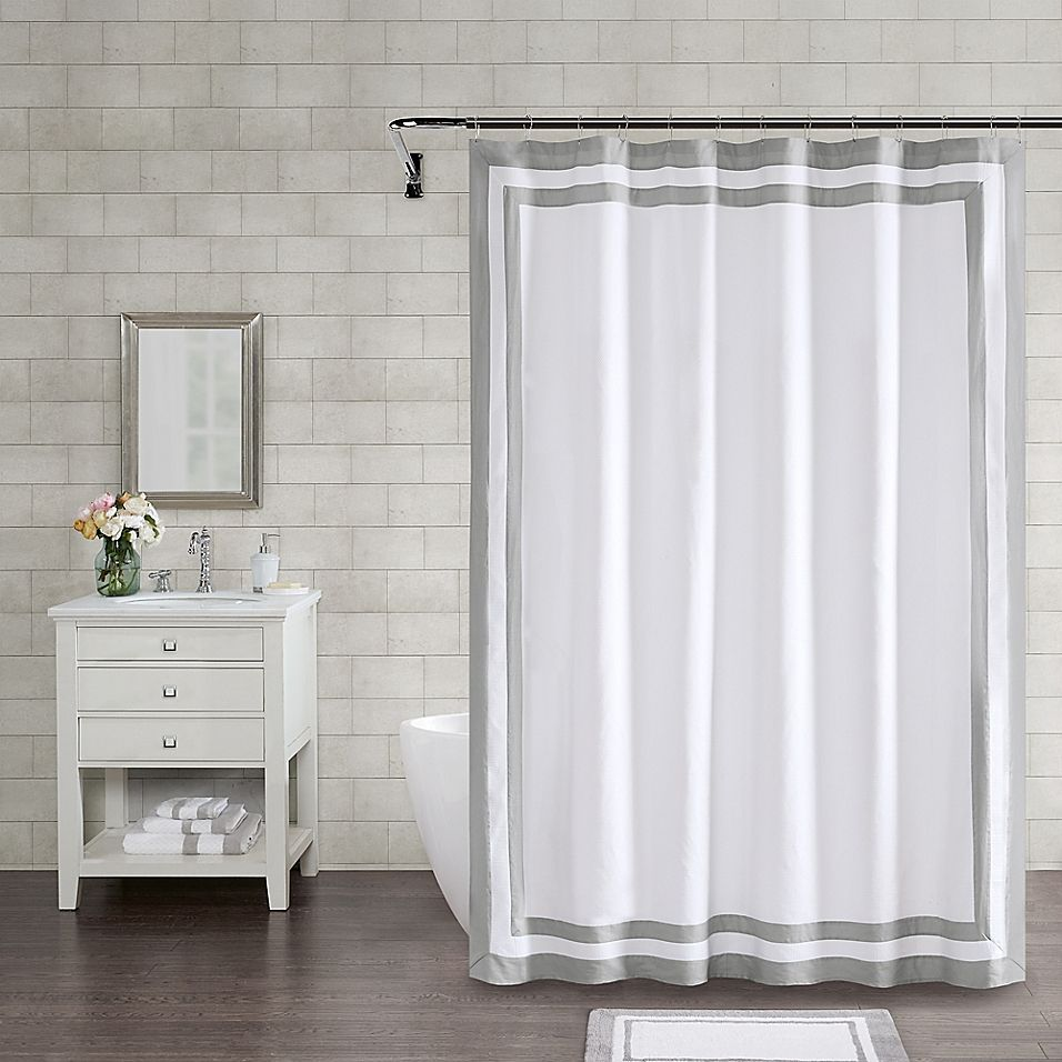 Wamsutta Hotel Border 72 Square Shower Curtain In Grey In 2020