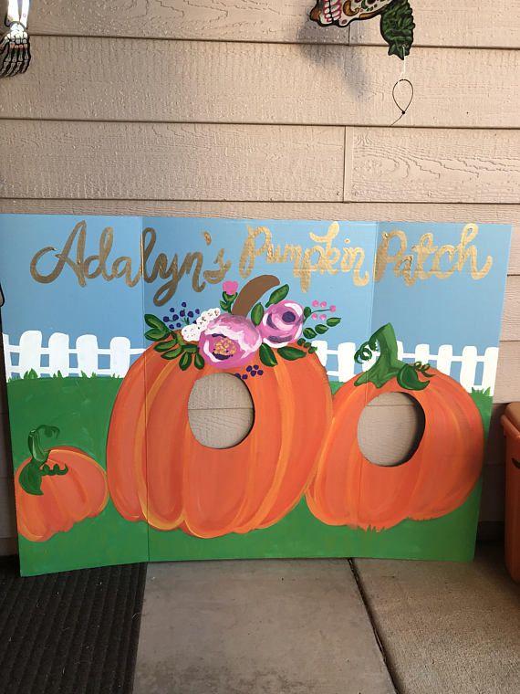 Pumpkin Patch Party- Pumpkin Birthday- Little Pumpkin Birthday- Pumpkin Face in Hole- thanksgiving photo booth- Pumpkin Cutout- Fall Birthda