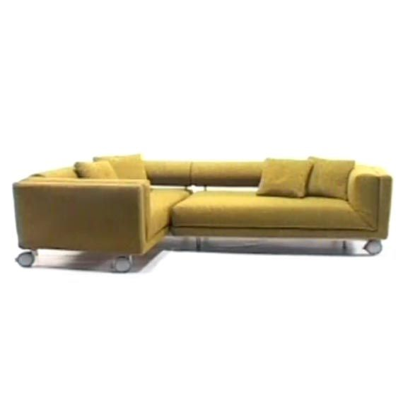 High Quality Popular Comfortable Sectional Sofas | Yellow Transforming Sofa Bed Design  With Wheels
