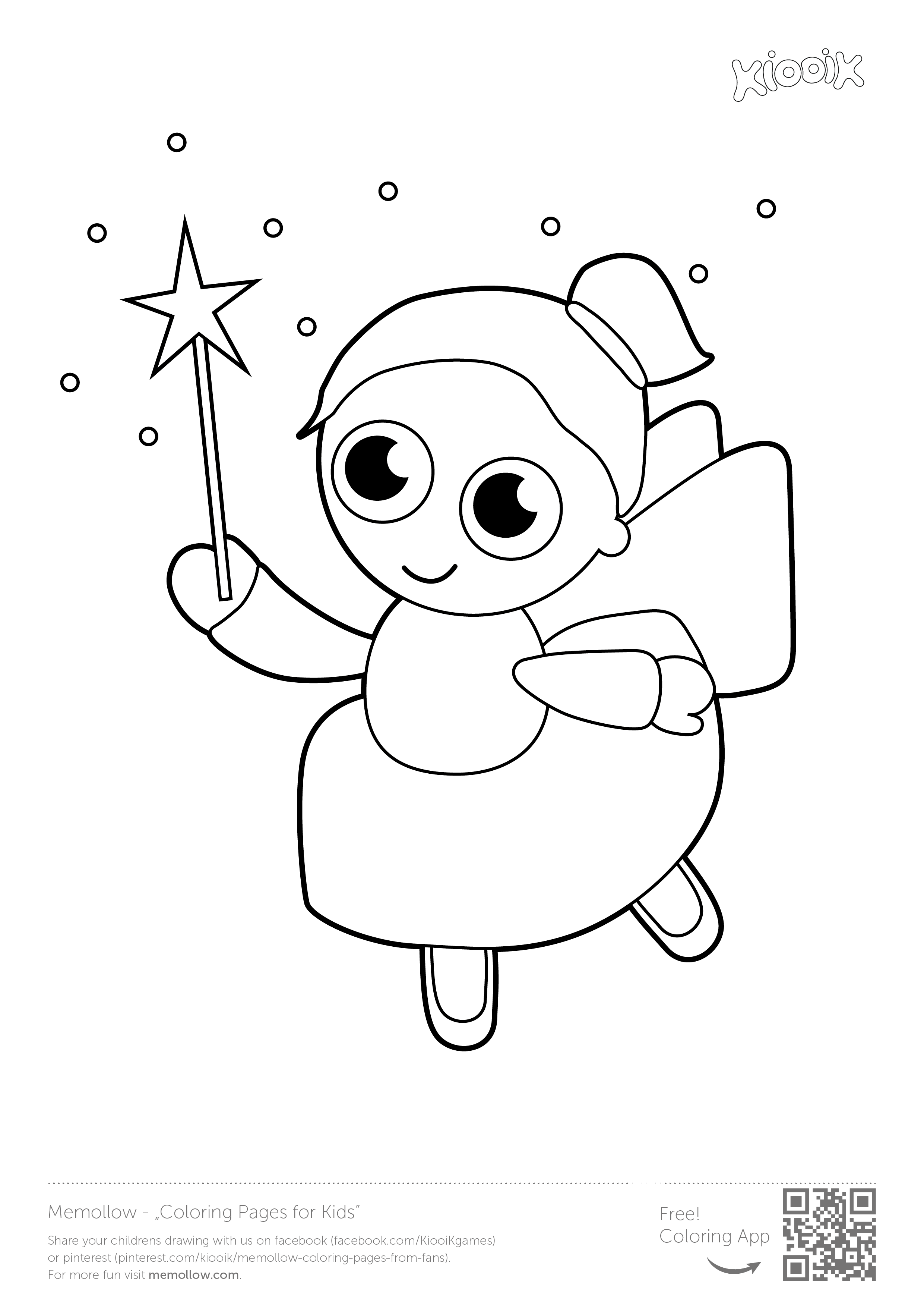 """""""Fairy"""" #memollow to print #coloring pages for #kids ..."""