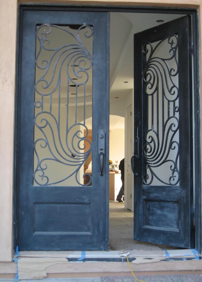 Double Iron Door Main Iron Safety Door Designs For Home Steel Gate