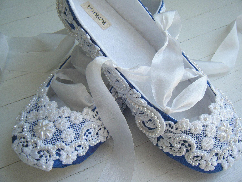 437451da4dc DELFT BLUE Bridal Shoes