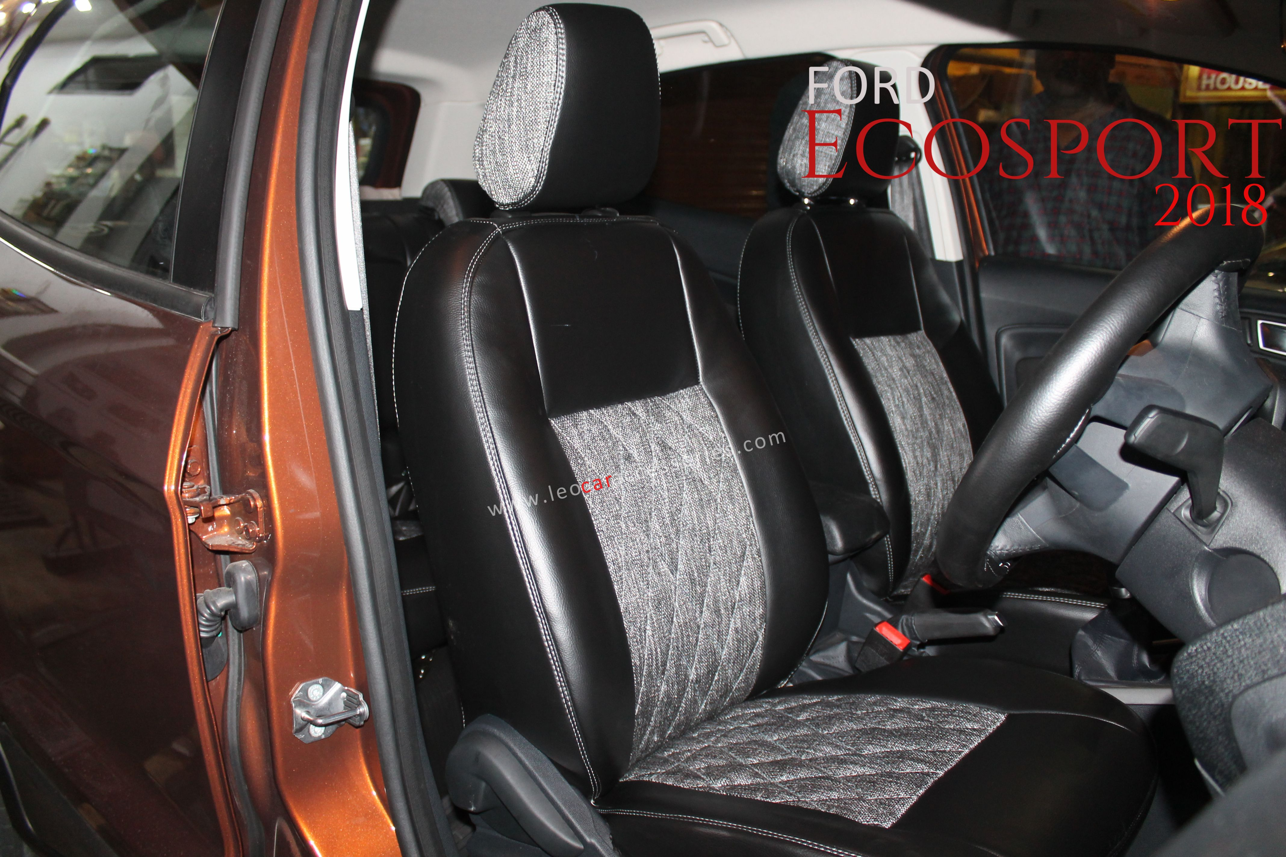Ford Ecosport Customized Car Seat Cover From Feather Installed By
