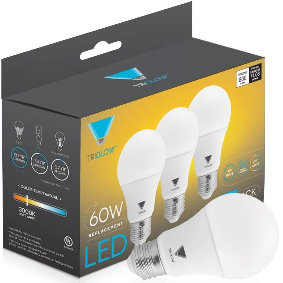 A Pack Of Energy Efficient Led Light Bulbs That Ll Replace 60 Watt Bulbs But Only Use 9 Watts Saving You 85 In Energy They Ll Emit A Soft White Light And Hav Led Light
