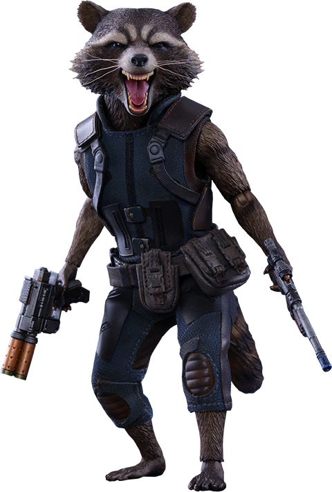 Hot Toys Rocket Sixth Scale Figure Guardians Of The Galaxy Guardians Of The Galaxy Vol 2 Rocket Raccoon Movie