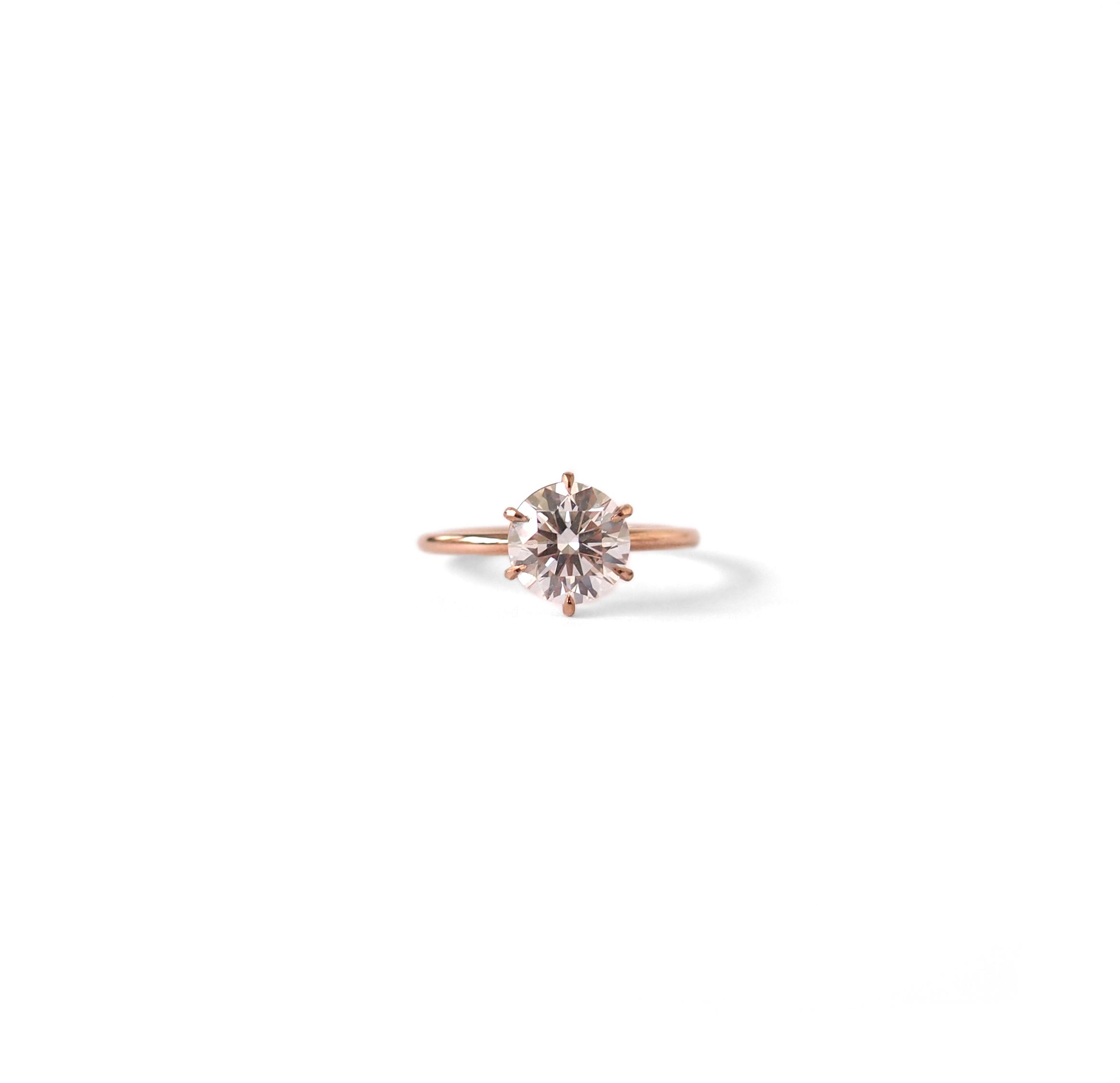 Natalie Marie Jewellery Signature solitaire 6 carat diamond set