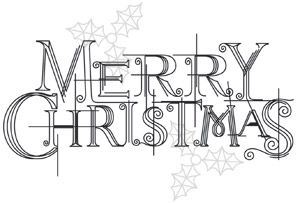 Crystal Christmas - Merry Christmas design (UTH8376) from UrbanThreads.com
