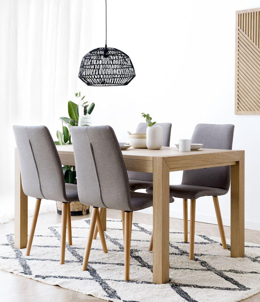 Mesa de comedor de roble Basik 1 | Mesas de comedor en