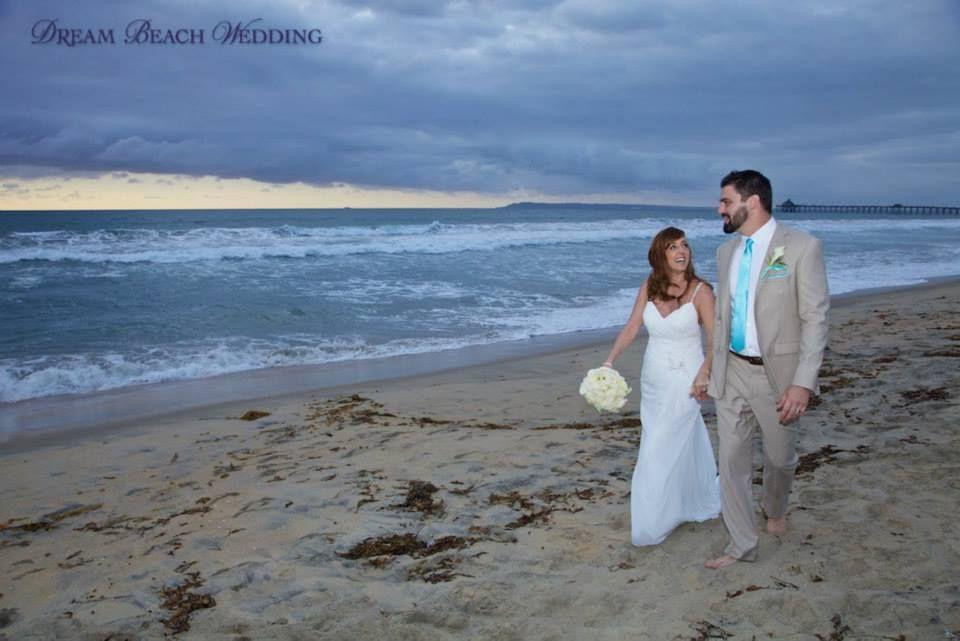 Happy day for these two on their wedding day #DreamBeachWedding