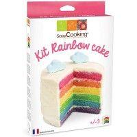 Kit Rainbow Cake #raibowcake #cuisinecreative #cuisine