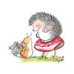 Image result for hedgehog clipart free   Penny black, Penny black cards,  Penny black stamps