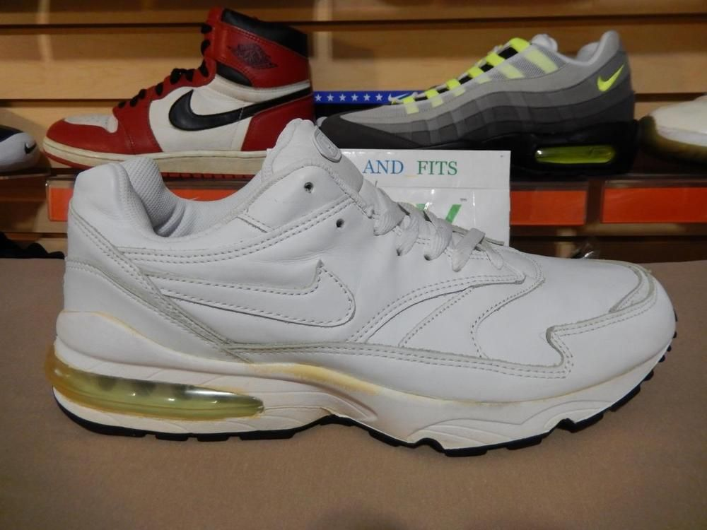 VTG 2002 Nike Air Max Burst Leather White/White 604203-111 size 12 New DS