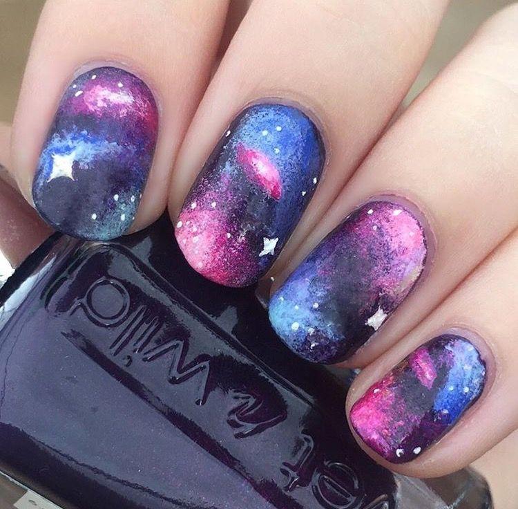 My galaxy nail art design #galaxy #galaxynails #nails #nailart ...