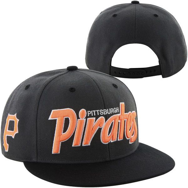 half off 40b31 3fa75 ... usa 47 brand pittsburgh pirates retroscript adjustable snapback hat  black todays sale price 58180 6601d ...