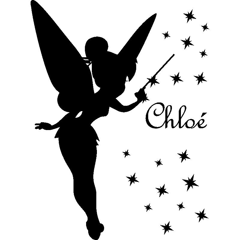 TINKERBELL Fée Clochette Fée Enfant Personnalisé Nom Anniversaire badge