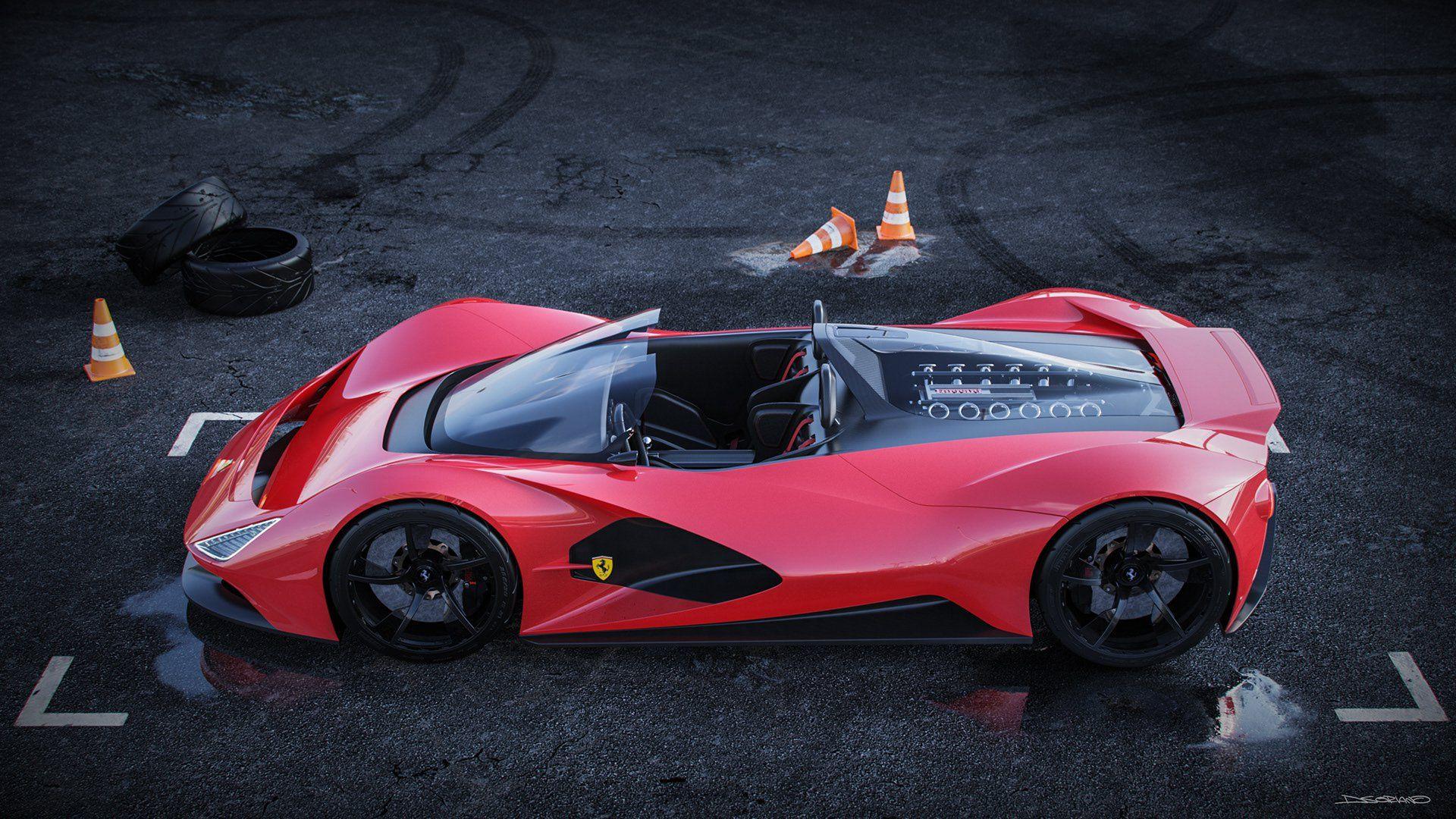 The Ferrari Aliante Is The Ultimate Italian Barchetta Carscoops Super Cars Ferrari Car Ferrari