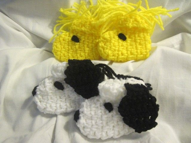 A Dog and His Best Friend (Snoopy and Woodstock) Crocheted Character ...