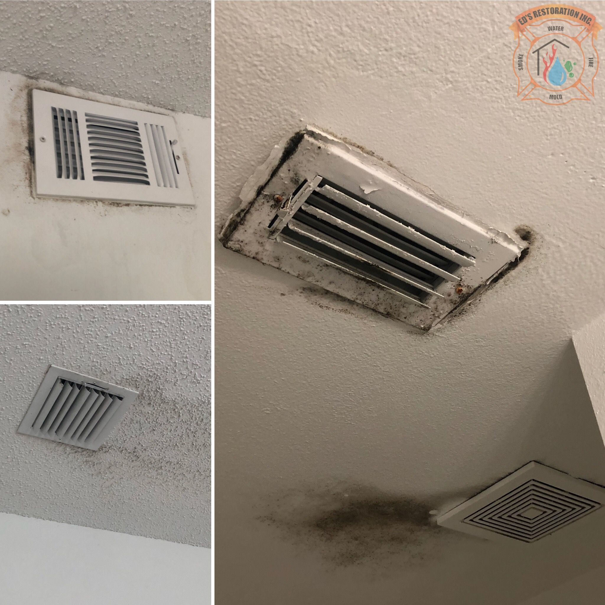 One reason for mold growth around A/C vents is because of