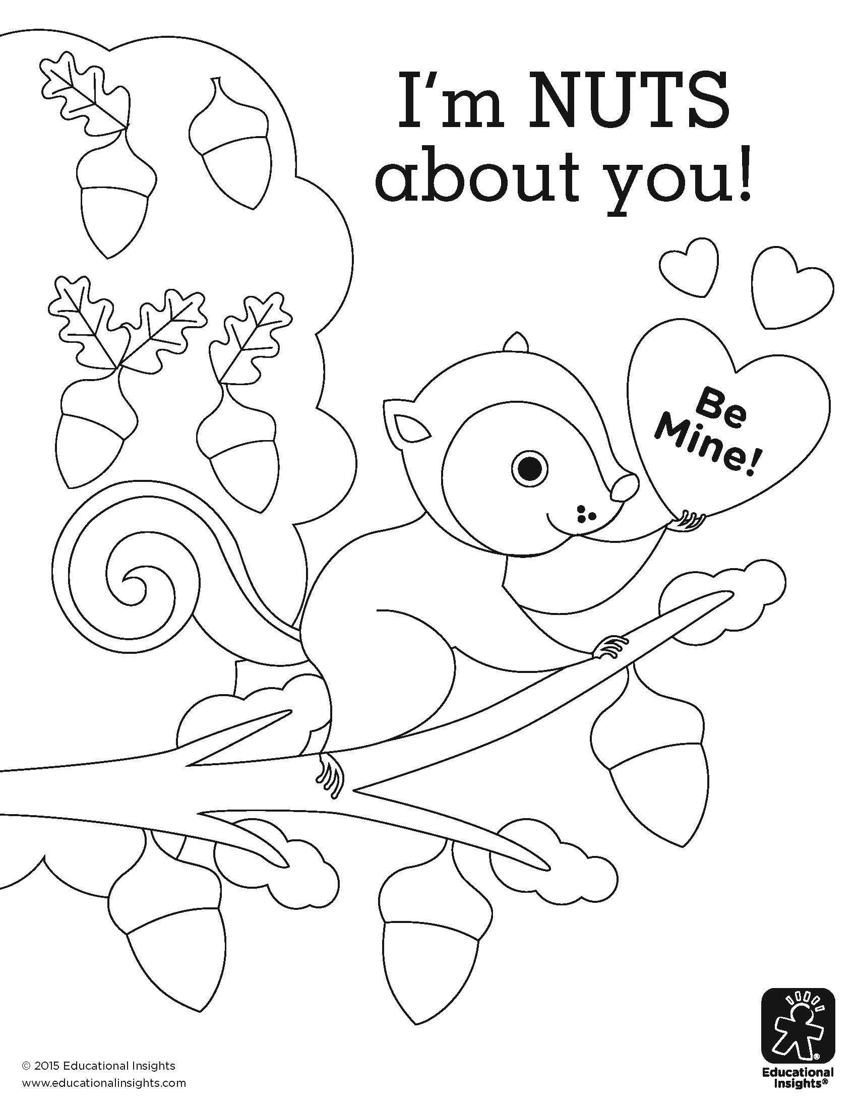 I M Nuts About You Coloring Page By Educational Insights