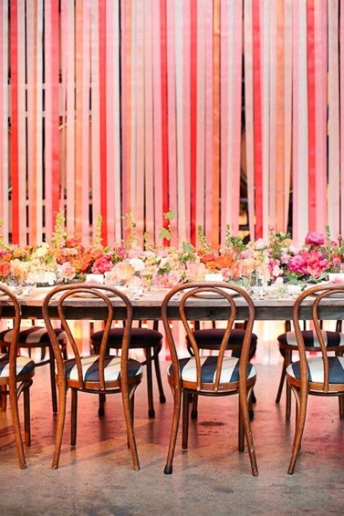 Love this as backdrop or hanging centerpiece ribbon party ribbon wedding decor l backdrop decor altar l southern weddings junglespirit Choice Image