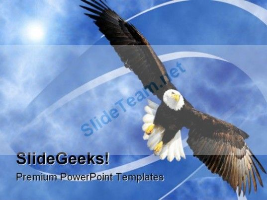 eagle clouds america powerpoint template 0610 powerpoint templates