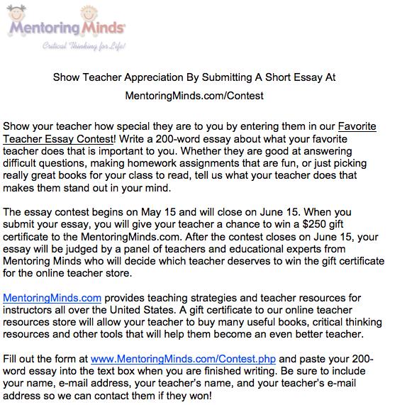 Essays On Teachers Teacher Favorite Things Essay Help Writing Introductions