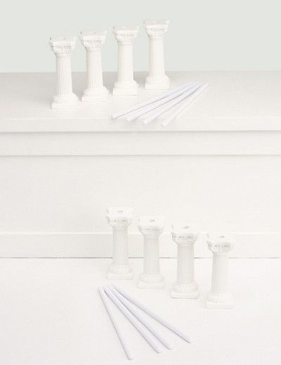 marks and spencer wedding cake dowels 8 white pillars amp 8 dowels wedding cake accessories 17171
