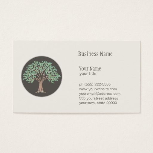 Wise Tree Logo Life Coach and Naturopath Business Card ...