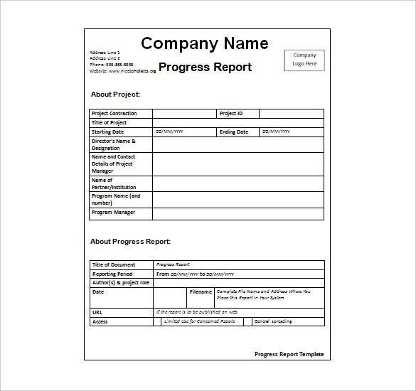 wordstemplates org this sample weekly report example template - progress reports templates