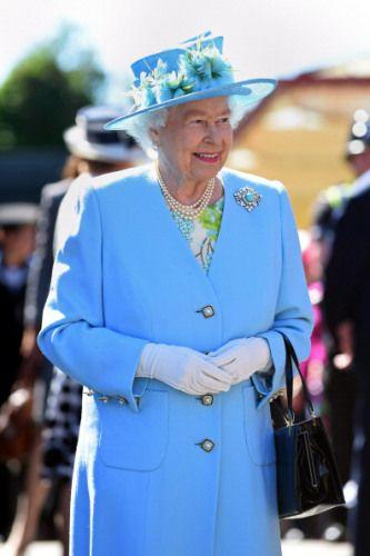 Queen Elizabeth, July 10, 2014 in Rachel Trevor Morgan | Royal Hats