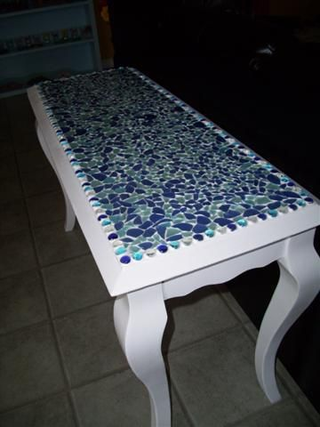 Seaglass Table Top I Want To Make One Of These As A Bar