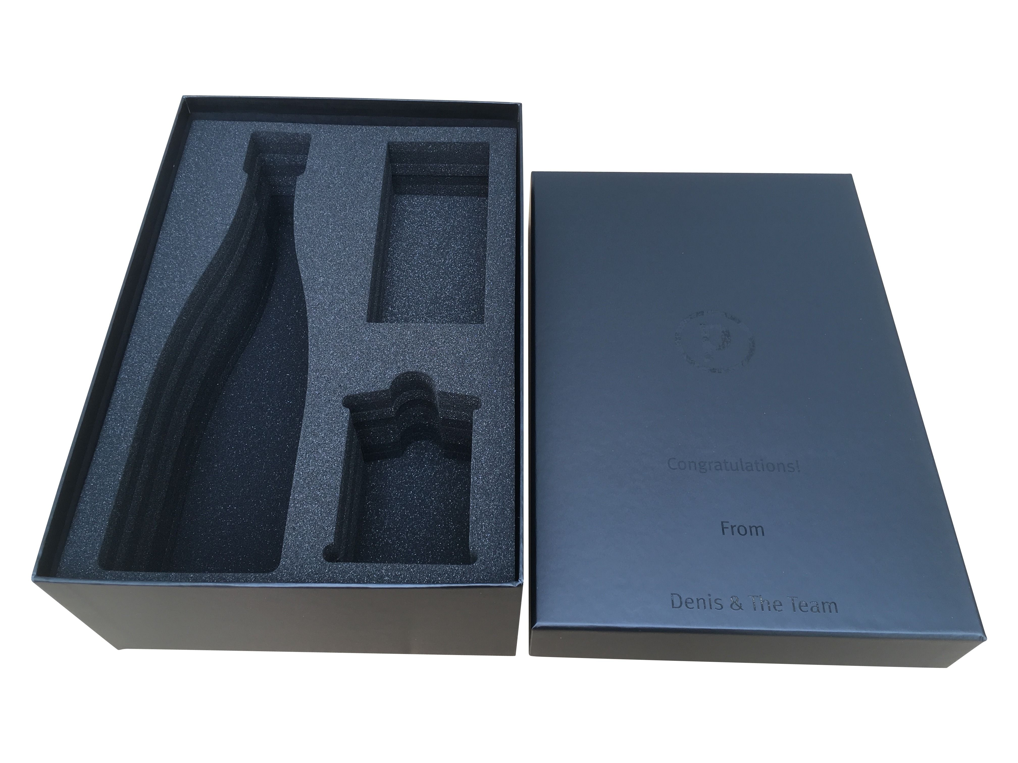 Luxury Hamper Packaging Custom Cut Foam Gift Box Rigid Lid And