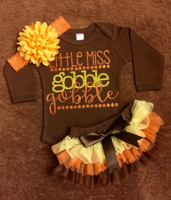 Infant Thanksgiving Outfit Gobble Gobble By