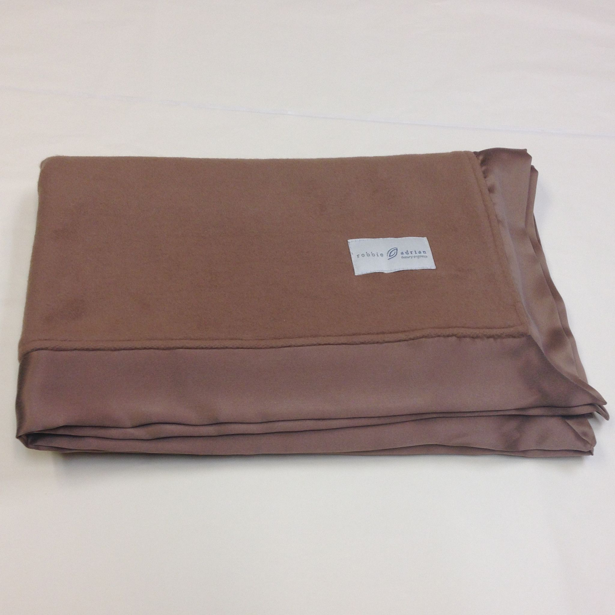 Ready to ship special version brown fleece organic baby blanket with
