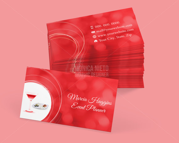 Custom Printable Event Planner Business Card Template | Event