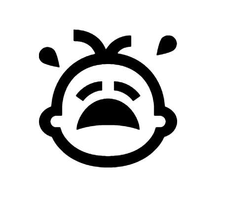 Crying Baby Icon In Android Style Baby Icon Baby Crying Icon