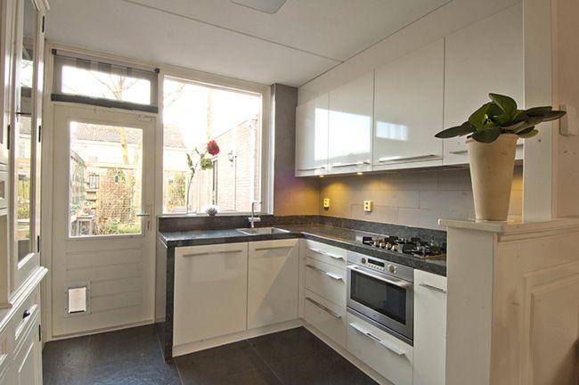 Picture idea 6 : Moderne l keuken vormige oud wit geplaatste keukens