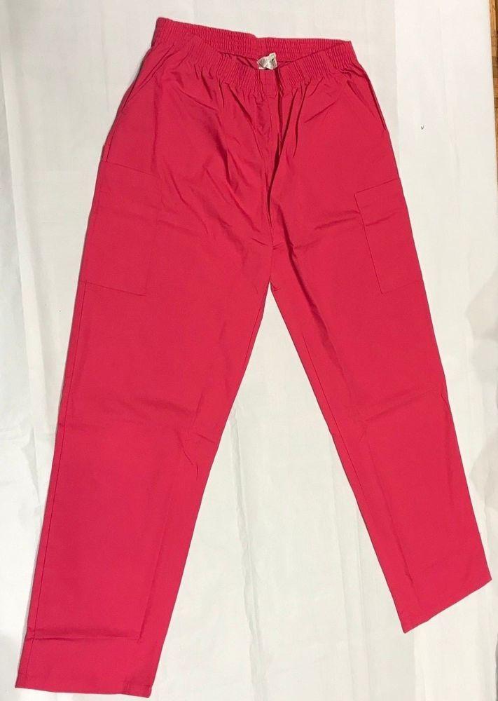 30739b9481e eBay  Sponsored Dickies Medical Uniforms Tall Pull-On Scrub Pants Lots Of  Pockets SZ XL Hot Pink