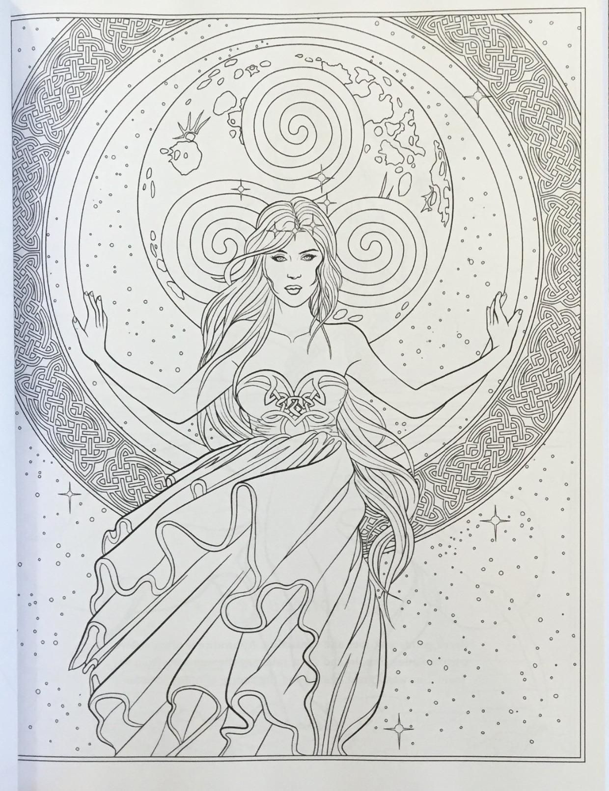 Fairy art coloring book by selina fenech - Colouring Pages Adult Coloring Pages Coloring Books Bullet Journal Copic Art Pagan Lightbox Mermaids Coloring