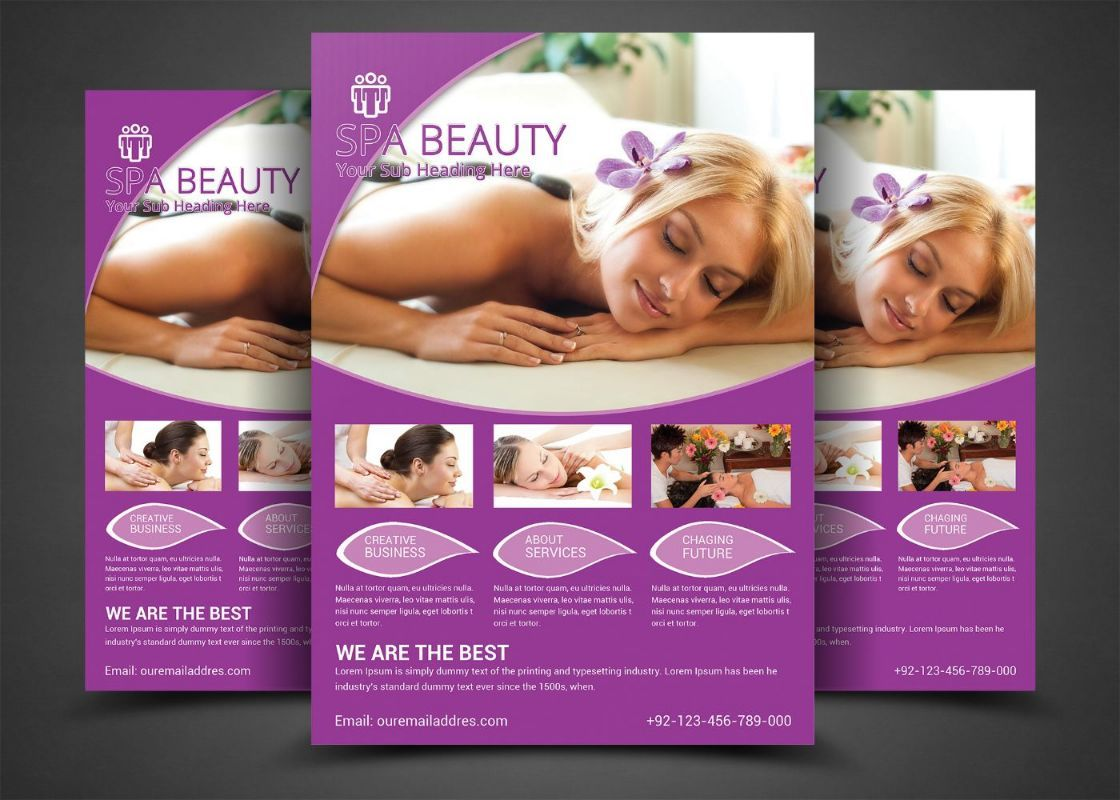 BeautySalonFlyerTemplatePsd   Beauty Salon Flyer Template