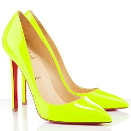 christian louboutin yellow shoes