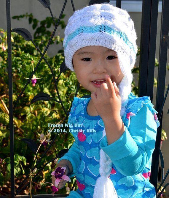 Knitting Pattern Only - Frozen Wig Hat  4e84862f190