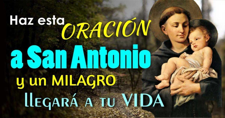 Haz Esta Oración A San Antonio Y Un Milagro Llegará A Tu Vida San Judas Tadeo San Antonio Novena Antonio