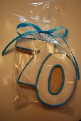 Cute Cookie Idea For A 70th Birthday Party Favor