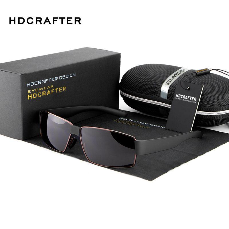 816e2479262 HDCRAFTER Polarized Sunglasses men brand designer Sports Sun Glasses  Driving Glasses oculos de sol masculino Eyewear E013